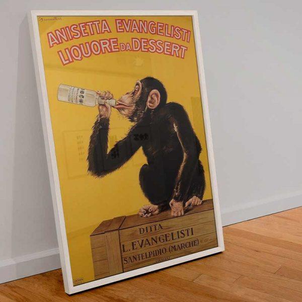 Affiche singe vintage