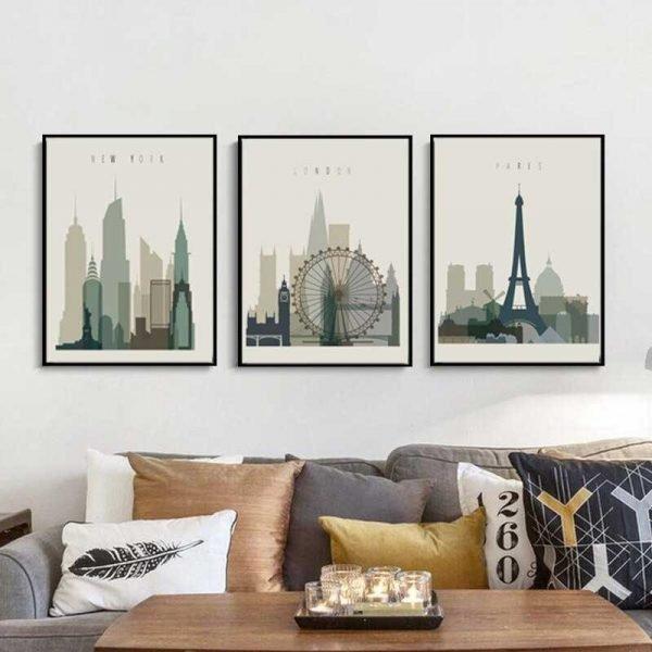 Affiches Paris New York Londres