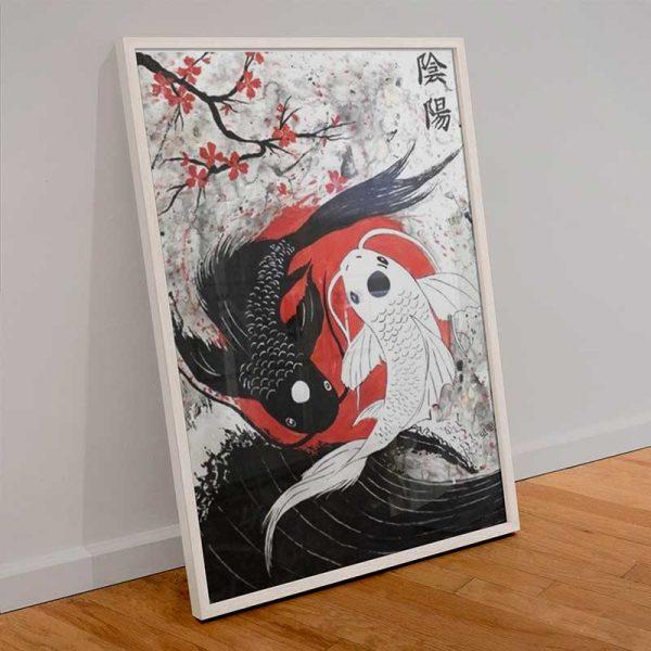 Peinture carpes japonaises