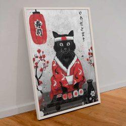 Peinture chat japonais