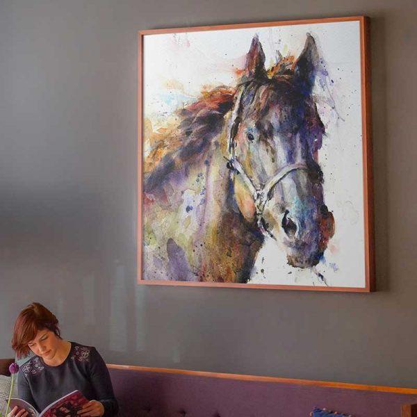 Peinture cheval aquarelle