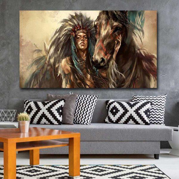 Peinture cheval indien