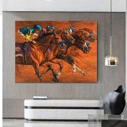 Peinture chevaux de course