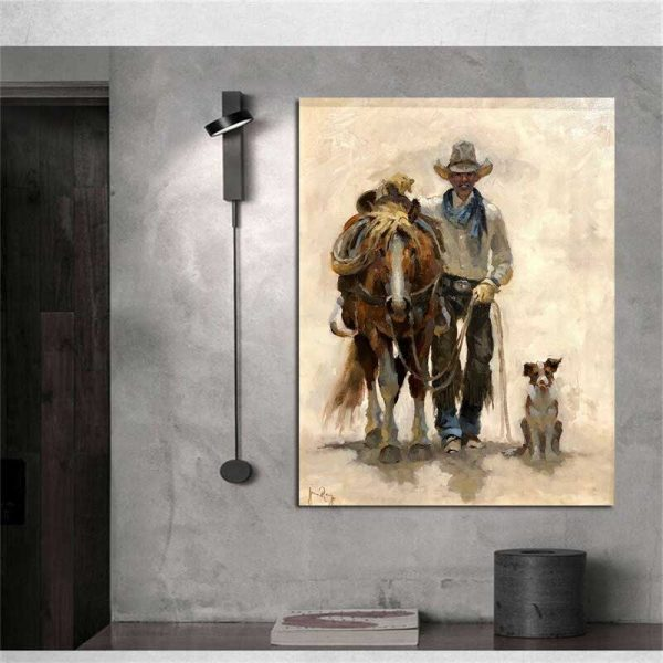 Peinture cow boy