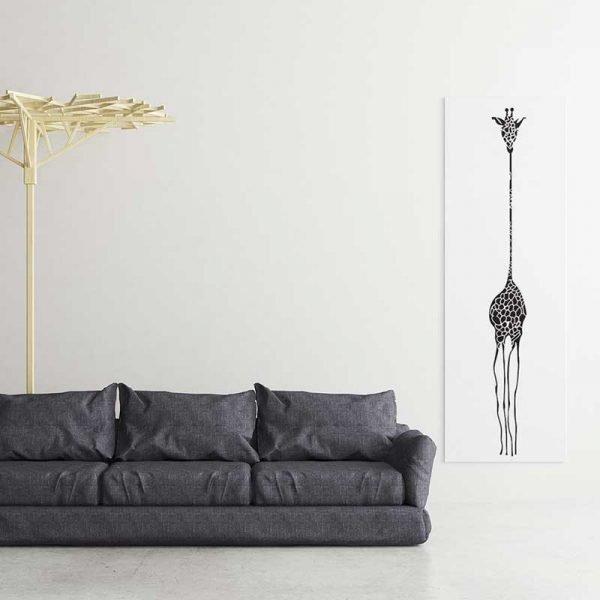 Tableau déco dessin girafe