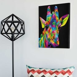 Peinture girafe pop art