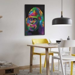 Tableau déco gorille pop art