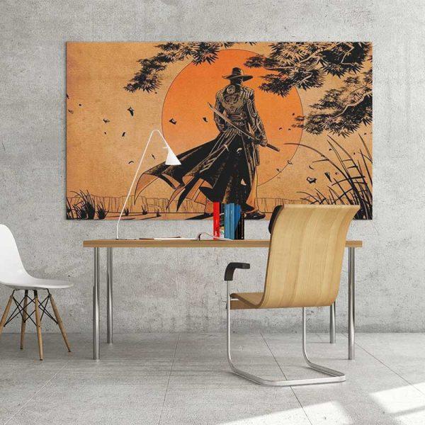 peinture guerrier japonais