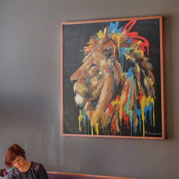 Peinture lion street art