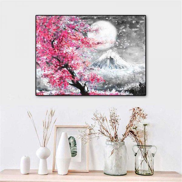 Peinture mont Fuji