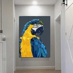 Peinture perroquet pop art