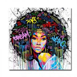 Peinture street art femme africaine