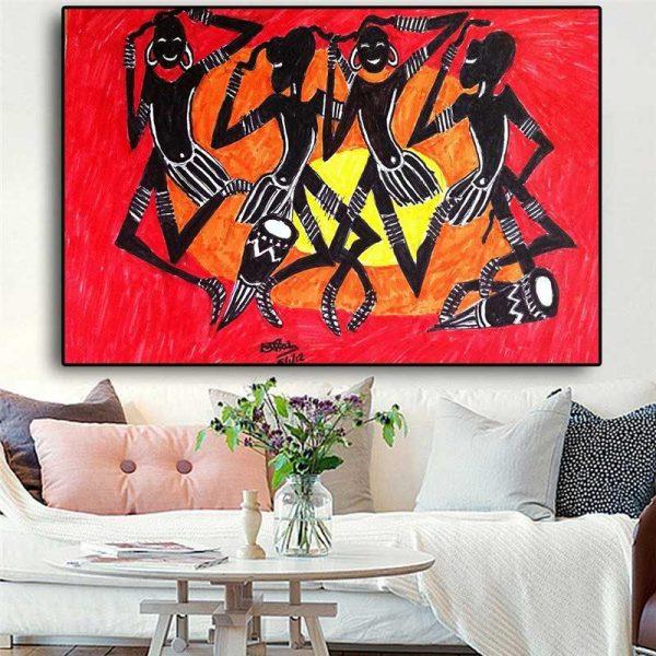 Peinture tribu africaine