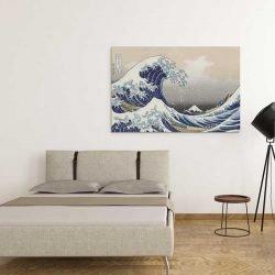 Peinture vague japonaise