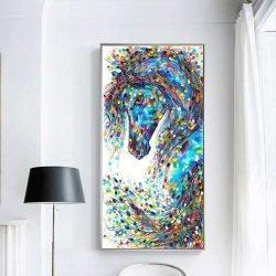 Peinture cheval abstrait