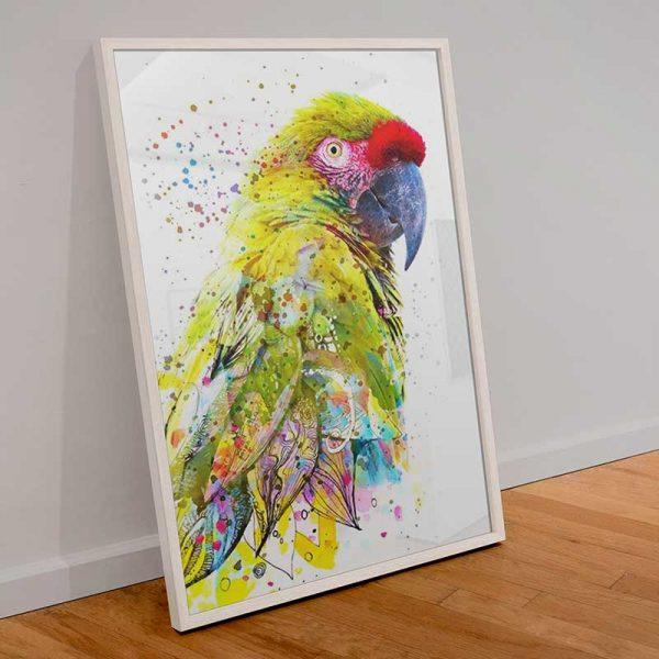 Tableau déco perroquet moderne