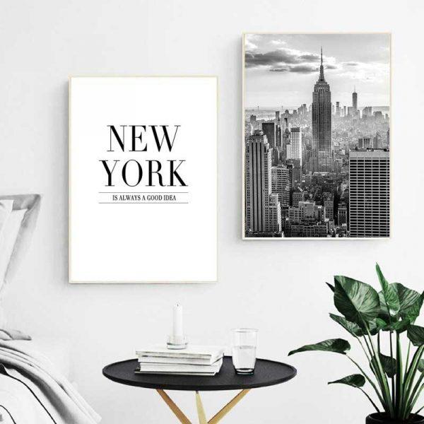 Tableaux affiche et vue de New York