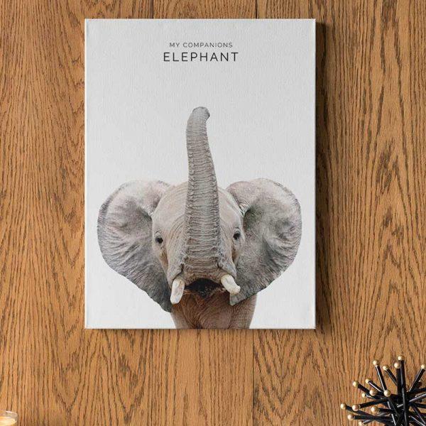 Tableau déco affiche éléphant