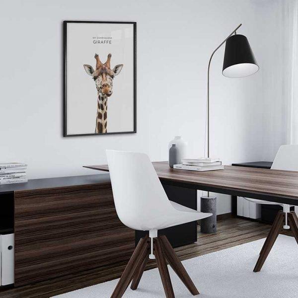 Tableau affiche girafe