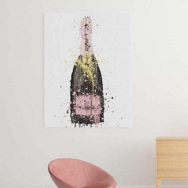 Tableau bouteille de champagne