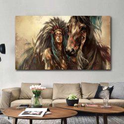 Tableau cheval indien