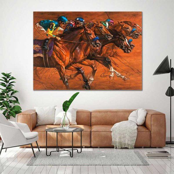 Tableau chevaux de course