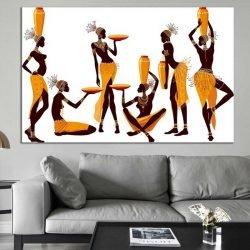 tableau femmes africaines porteuses d'eau
