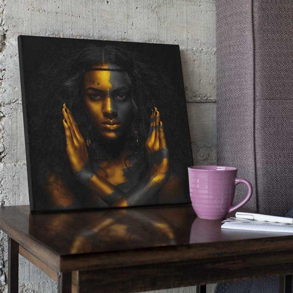 Tableau fille africaine moderne