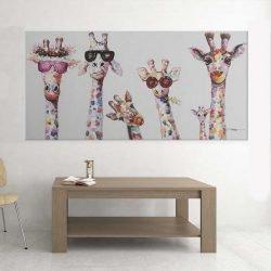 Tableau girafes lunettes