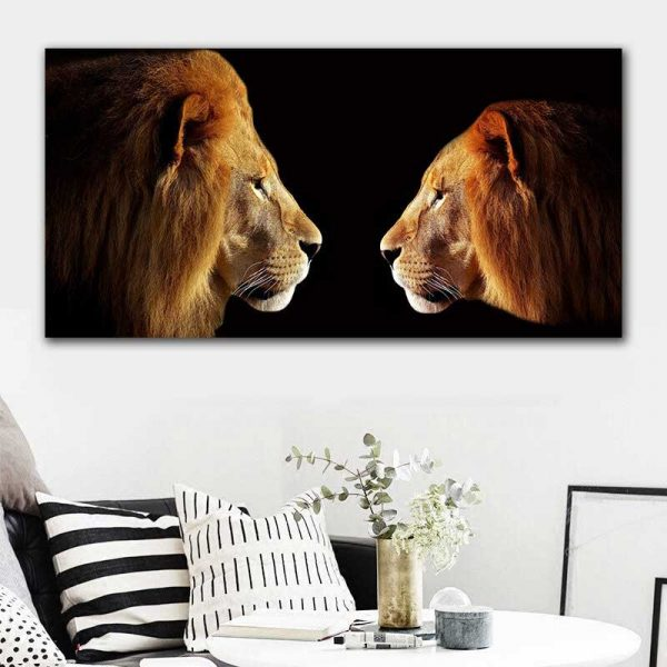 Tableau lion et lionne