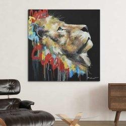Tableau lion graffiti