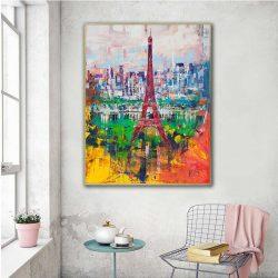 Tableau déco peinture abstraite Paris