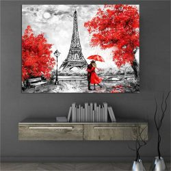 Tableau déco peinture tour Eiffel