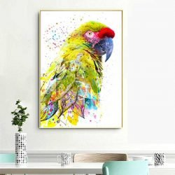 Tableau perroquet moderne