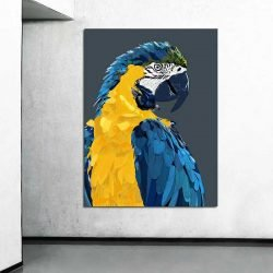 Tableau perroquet pop art