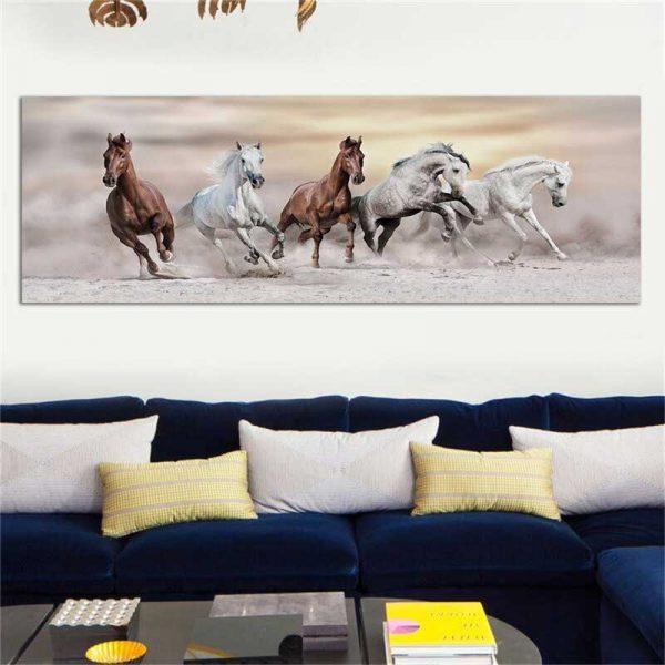 Tableau photo chevaux sauvages