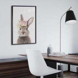 tableau photo scandinave lapin