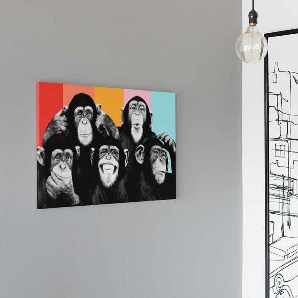 Tableau déco singes moderne