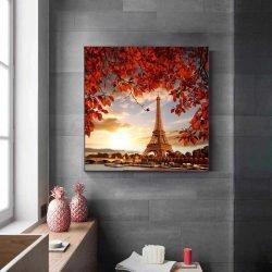 Tableau photo tour Eiffel coucher de soleil
