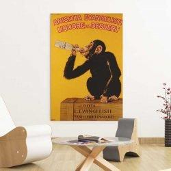 Tableau singe vintage