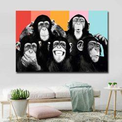 Tableau singes moderne