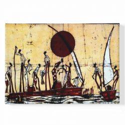 Tableau sur toile africain ancien