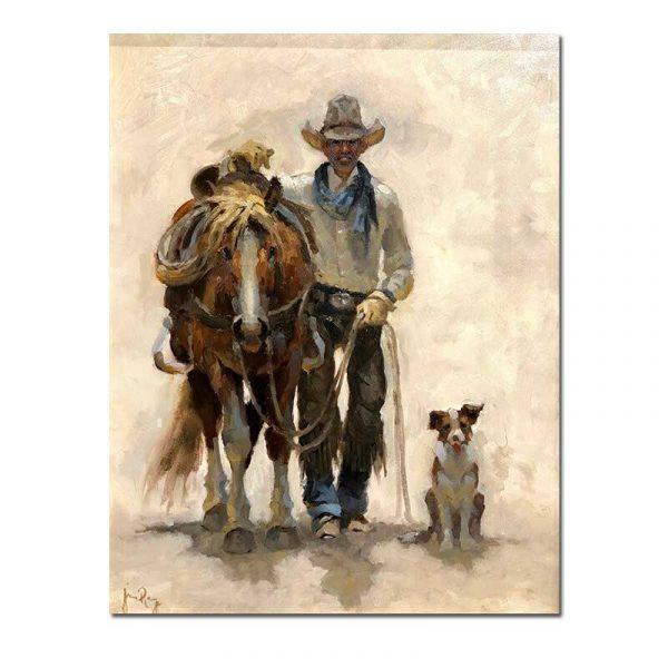 Tableau sur toile cowboy