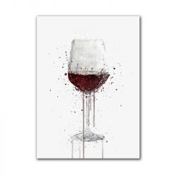 Toile verre de vin