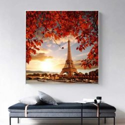 Tableau tour Eiffel coucher de soleil