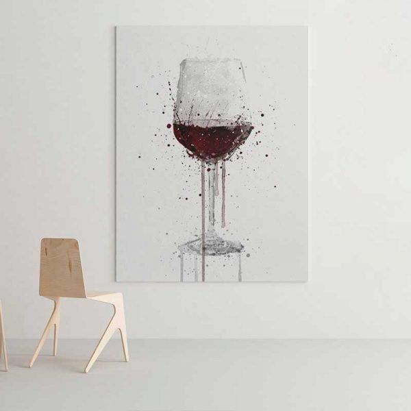 Tableau verre de vin
