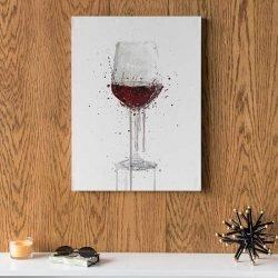 Tableau verre de vin rouge