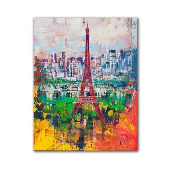 Toile abstraite Paris