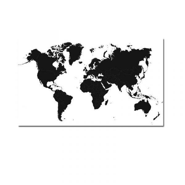Toile carte du monde vintage