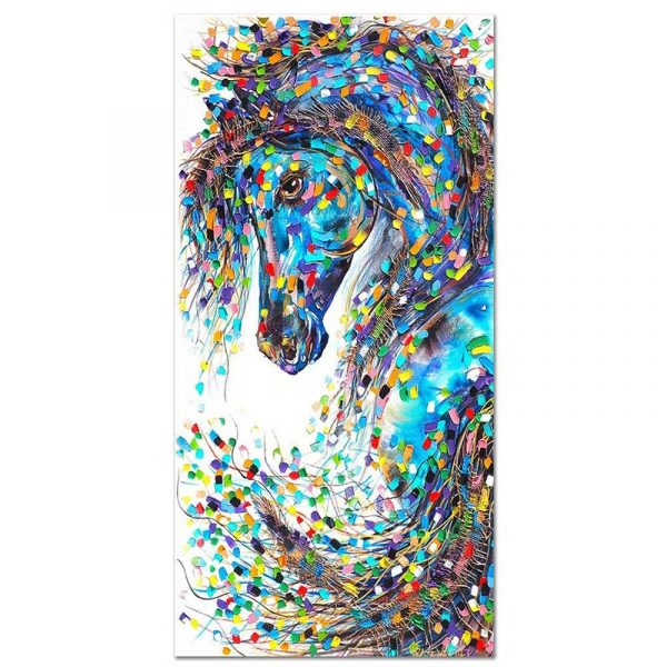 Toile cheval abstrait
